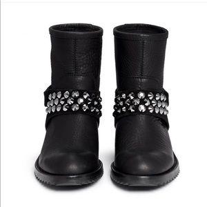 Pedro Garcia Kian Crystal Studded Boot Size 6 1/2